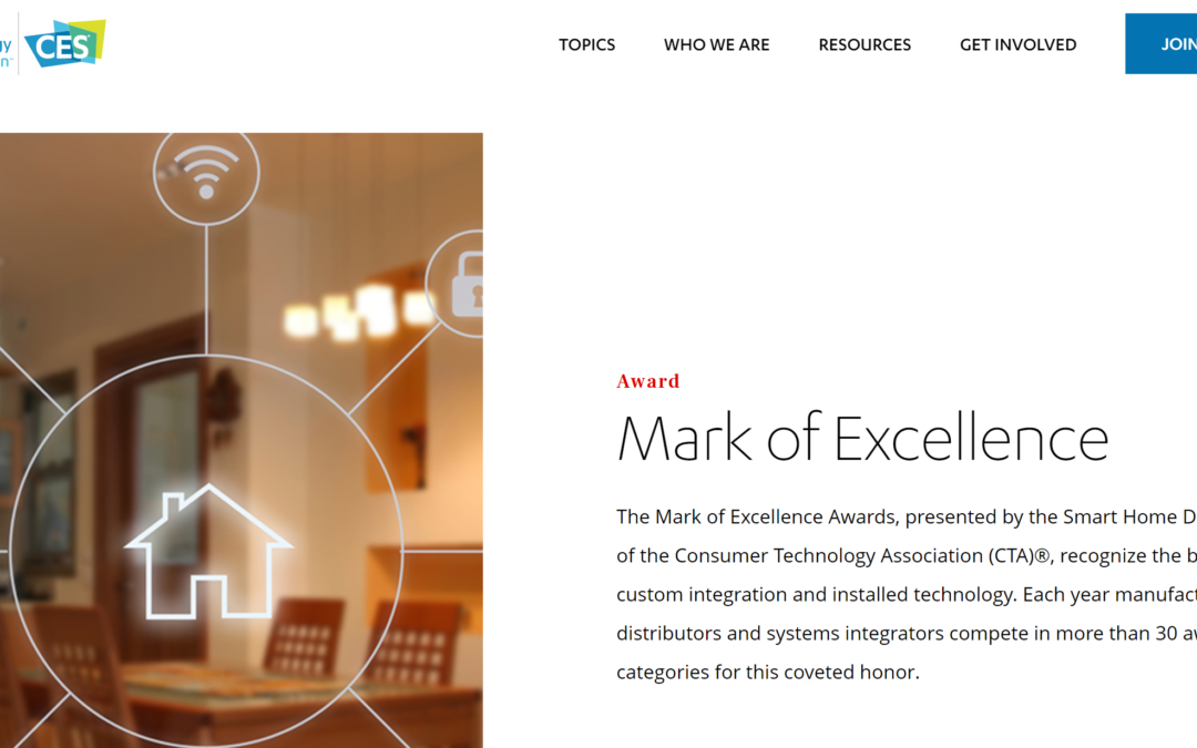 Wayzn awarded the Mark of Excellence by the Consumer Technology Association