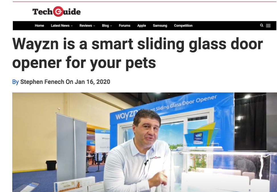 Tech Guide's Stephen Fenech Visits Wayzn Display at CES 2020
