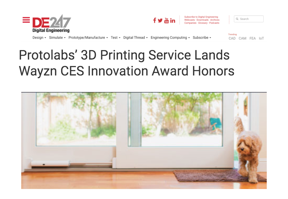Digital Engineering 24/7 Discusses Wayzn's Performance at the 2020 CES Innovation Awards