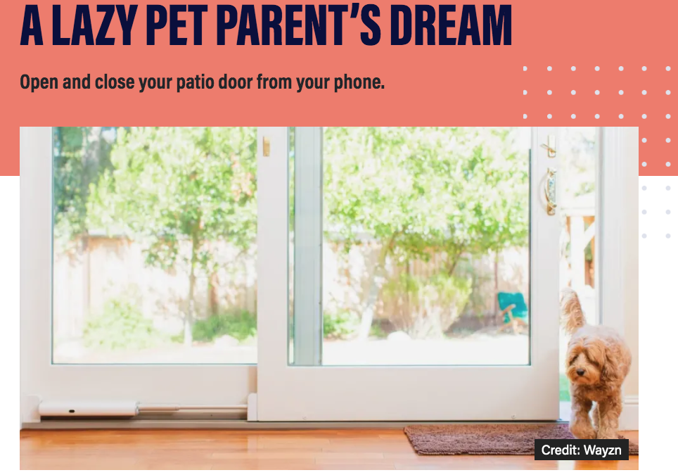 USA Today's Reviewed Magazine: This Smart Sliding Glass Door is a Lazy Pet Parent's Dream