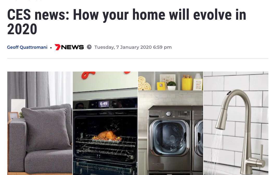 7News Australia Covers Wayzn as one of many products that will evolve the home in 2020